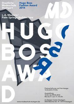 Sascha Lobe / L2M3, poster for Hugo Boss and Fashion School Stuttgart
