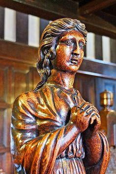 Wood carving at Shibden Hall