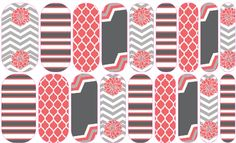 Sassy In Coral & Grey by: Trudy Sjolander | Jamberry