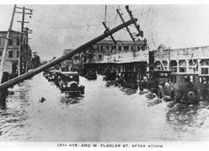 Damage in downtown after the 1926 hurricane