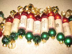 cork ornament - great Christmas craft!