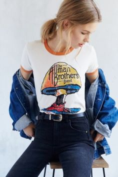 Music Series Ringer Tee - Urban Outfitters