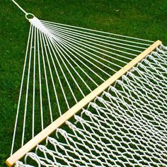 "Best Choice Products® Hammock 59"" Cotton Double Wide Solid Wood Spreader Outdoor Patio Yard Hammock"