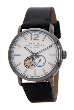 fefd5904a93b Image of Marc by Marc Jacobs Women s Fergus Leather Strap Watch Petite  Fashion Tips