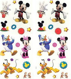 Disney Mickey Mouse Clubhouse Wall Stickups   30 Sticker Accents Part 91