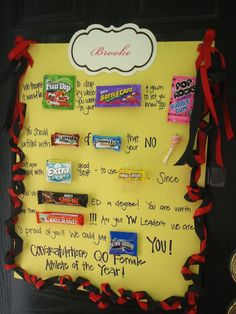 Graduation candy bar poster