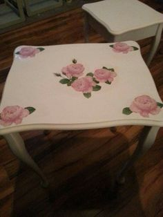 Handpainted and napkins used for this table