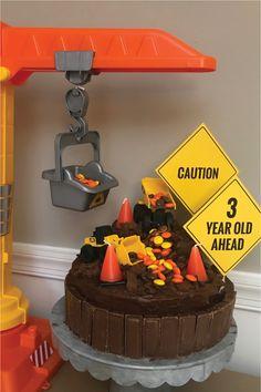 Dump Everything! It's Jack's birthday! 3rd Birthday Party For Boy, Toddler Boy Birthday, Truck Birthday Cakes, Birthday Themes For Boys, Digger Birthday, Birthday Ideas, Truck Cakes, Construction Theme Cake, Construction Birthday Parties