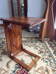 Knotty Alder sofa table