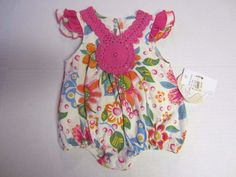 Tralala One Piece 3-6 M Months Multi Floral Romper Baby Girl NEW #Tralala