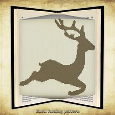 Book folding pattern Deer for 462 folds  by FoldingBookPatterns