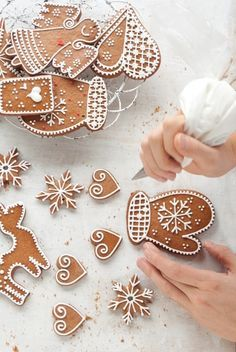 decorating gingerbread cookies at christmas time! can't wait for this fun tradition