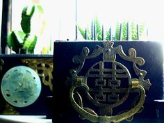 drawers of an old Chinese jewelry box to planters