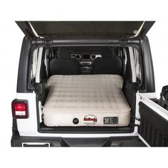 Now you can be assured to have a comfortable night's sleep or a good place to take a break with the AirBedz Inflatable Air Mattress. This heavy-duty inflatable air mattress is designed to fit inside the Jeep, with the seats folded down or removed. Jeep Wrangler Sahara, Sahara Jeep, Jeep Wrangler Unlimited Rubicon, Jeep Sahara Unlimited, Jeep Wrangler Seats, Jeep Wrangler Upgrades, Jeep Wrangler Headlights, White Jeep Wrangler, Wrangler Sport