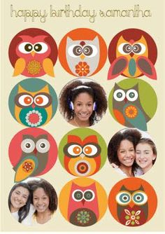 Yep, We're a little Owl Crazy for these gorgeous owls in all shades of pink, red, orange and green Little Owl, Owls, Card Making, Shades, Orange, Retro, Green, Pink, Cards