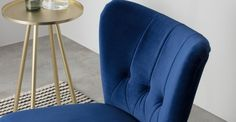 Beautiful chair made.com Electric Blue, Colour Schemes, Blue Velvet, Victorian Homes, Kitchen Accessories, The Hamptons, Accent Chairs, Armchair, New Homes