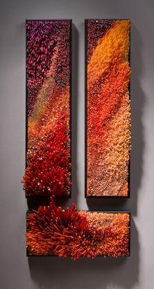 "Shayna Leib, Glass Artist    Oyashio****  Glass, 2007  32"" L x 13"" W x 5"" D"