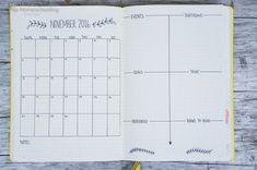 Bullet Journal Monthly Spread Ideas
