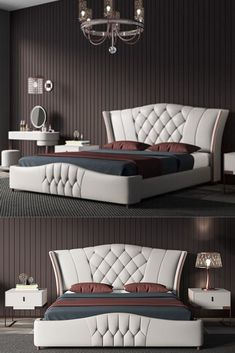 Brand: sipem from China Modern Luxury Bedroom, Master Bedroom Interior, Luxury Bedroom Design, Bedroom Closet Design, Bedroom Furniture Design, Home Room Design, Bed Furniture, Luxurious Bedrooms, Bad Room Design