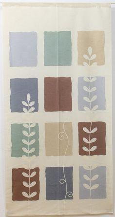 Amazon.co.jp: のれん 暖簾「カルテットリーフ」【IT】サイズ:85×170cm(#9893116) ロング 暖簾 おしゃれ 北欧 間仕切り: IKEHIKO Online Store