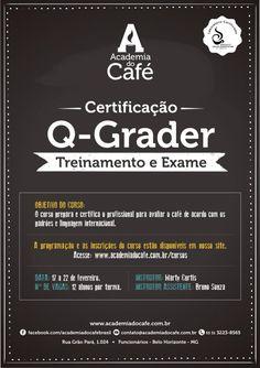Mais uma certificação Q-Grader na Academia do Café, que acontecerá de 17 à 22 de Fevereiro