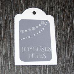 """9 étiquettes cadeau """"Joyeuses Fêtes"""" : Emballages cadeaux par creerpourvous"""