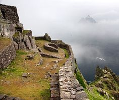 Skellig Michael, Ireland  Rising like a sunken Gothic cathedral off Ireland's Iveragh peninsula, the island of Skellig Michael was home to Irish Christian monks for some 600 years until A.D. 1100, when it was abandoned out of fear of more Viking raids.