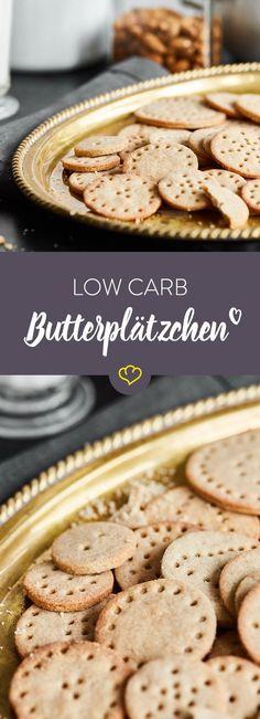 Gegen Butterplätzchen haben Low Carber zum Glück nichts einzuwenden - solange sie mit Mandel- sowie Buchweizenmehl und ohne Zucker gebacken sind.