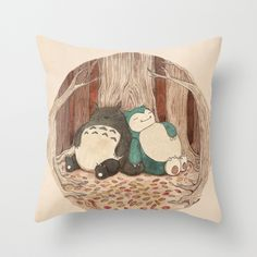 (Sleeping Friends Pillow Cover | dotandbo.com) Want this so badly for Faye's room. I am a dork lol
