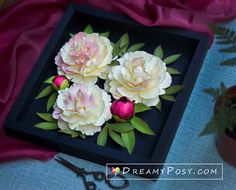 Peony paper flower tutorial and svg template , simple method