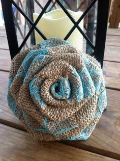 Burlap and Lace Rose/ Many color options by WoulfsCreations, $2.00 Holy crap this is beautiful!