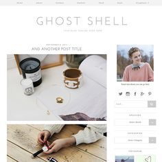 This this wordpress blog design! So minimal and nice: WordPress Theme: Ghost Shell
