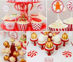 Sweet  & Sparkling Holiday Party - Free Printables - Eat Drink & Be Merry collection - Red and white - Christmas Party ideas