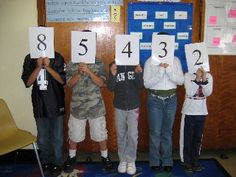 Number line up game for teaching place value