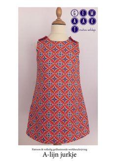 Patroon A-lijn jurkje & een volledig geïllustreerde werkbeschrijving