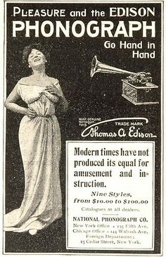 Edison Phonograph vintage advertisement