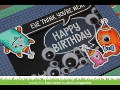 Lawn Fawn Monster Mash Shaker Card - YouTube