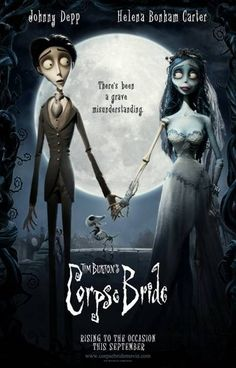 johnny depp movie posters | ... Bride Movie Poster - The Corpse Bride Poster Starring Johnny Depp