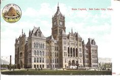 Vintage Postcard... State Capitol, Salt Lake City, Utah...Unused...no. 3206