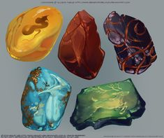 Stones by GreekCeltic on DeviantArt Crystal Pokemon Stones, Elfa, Prop Design, Fantasy Weapons, European History, Fantasy Inspiration, Dungeons And Dragons, Game Art, Art Reference