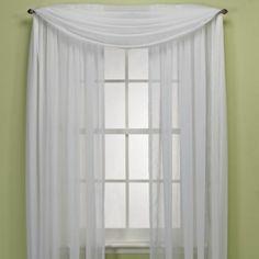 Crushed Voile Platinum Collection Sheer Rod Pocket Window Curtain Panels - BedBathandBeyond.com