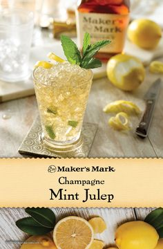 The essence of spring sparkles in this floral, effervescent spin on the Mint Julep. Sparkling wine and elderflower add a touch of class to a true classic. Ingredients: 2 parts Makers Mark® Bourbon, 1/2 part elderflower liqueur, fresh mint leaves and champagne or sparkling wine.