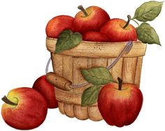 Clip Art Freeuse Stock Fall Apples Clipart - Baskets Of Apples Clipart { - Free Cliparts on ClipartWiki Apple Clip Art, Apple Art, Apple Cinnamon Loaf, Image Basket, Apple Song, Cliparts Free, Apple Baskets, Recipe For Mom, Mom's Recipe