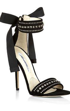 Fashion*Shoes | Rosamaria G Frangini | Brian Atwood Black Nausica Sandal | pretty :-)