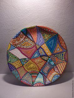 Декоративная посуда ручной работы. Ярмарка Мастеров - ручная работа. Купить Мексиканские страсти. Handmade. Разноцветный, украшение интерьера, интерьер