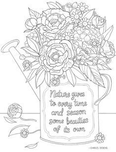 Flower Coloring Pages, Colouring Pages, Adult Coloring Pages, Creative Haven Coloring Books, Fun Crafts, Paper Crafts, Dover Publications, Never Grow Up, Printable Paper