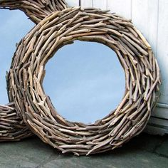 Round driftwood mirror - perfect for a Coastal Bathroom available from Coastal Home Macrame Mirror, Driftwood Mirror, Driftwood Crafts, Driftwood Furniture, Driftwood Ideas, Coastal Bathrooms, Nautical Gifts, Beautiful Mirrors, Beautiful Things