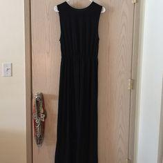 Black maxi dress High waisted, high neckline H&M Dresses Maxi