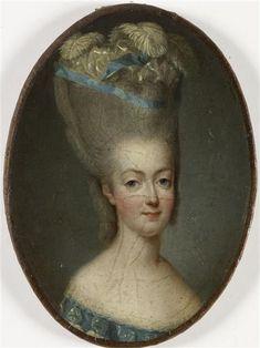 Portrait de Marie-Antoinette, vers 1776 par Jean-Marie Ribou, après François Dumont