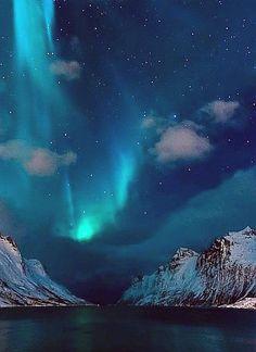 #Aurora Borealis in Ersfjordbotn, #Norway